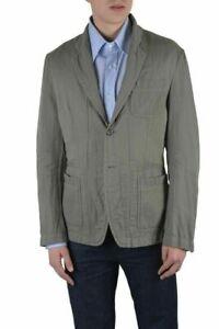 Dolce & Gabbana Men's Gray Linen Two Button Blazer Size US 38 IT 48