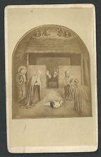 Foto albumina de la Natividad andachtsbild santino holy card santini