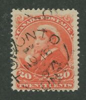 CANADA #46 USED DATED