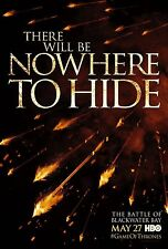 IL TRONO DI SPADE GAME OF THRONES MANIFESTO THERE WILL BE NOWHERE TO HIDE