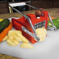 Stainless Steel French Fry Potato Chip Cutter Maker Slicer Chopper Dicer 2 Blade