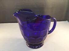 cobalt blue pitcher glass