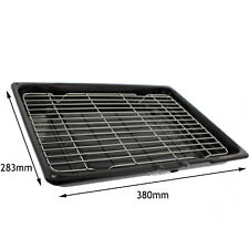 HOTPOINT Genuine Oven Cooker Complete Grill Pan Tray 380 x 283 x 65 mm Black