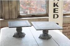 Rustic Black Square Metal Display Stands-Cake Stands-Risers-Platforms Weddings