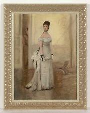 """Adolf Pirsch (1858-1929) """"Lady in Interior"""", Oil study, ca. 1900"""