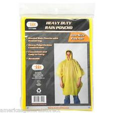RAIN PONCHO gear camping sports game slicker coat new