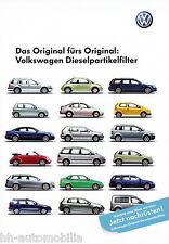 Prospekt VW Dieselpartikelfilter 3 06 6 S. 2006 brochure Autoprospekt Auto PKWs