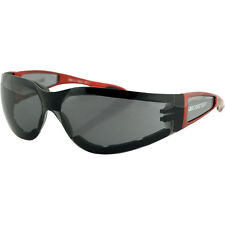 Gafas Para Moto Bobster Shield II Smoked Lens Red Frame Sunglasses