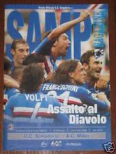 SAMPDORIA - MILAN PROGRAMMA  PROGRAMME  SERIE A CALCIO STAGIONE 2006/07