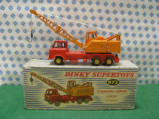 Vintage - 20 TON LORRY-MOUNTED CRANE  -  Dinky Supertoys 972 Assemble en France