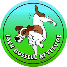 Dog Magnetic Car Decal - Jack Russell - Made In Usa - Attitude Collection