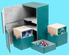 ULTIMATE GUARD TWIN FLIP n TRAY PETROL 160+ CASE XENOSKIN Standard Size Card Box
