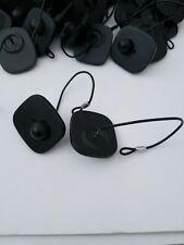 Lot 71 Black Eas Magnetic Anti-Theft Security Tags w Snap Lock Pins