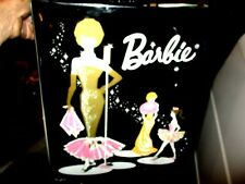 Vintage Black Barbie Doll Case with Clothing and Hangers TLC AS IS
