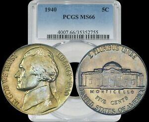 1940 Jefferson Nickel PCGS MS66 Gold/Bronze Toned