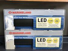 2 New Marineland Led Double Bright Adjustable Lighting System 450 Lumens