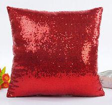 Christmas Sequins Pillow Case Throw Cushion Cover Home Pillowcase Decor Gift New