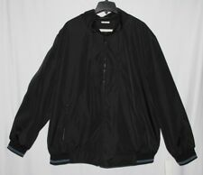 New Perry Ellis Solid Black Men's Size 3X Full Zip Poly Bonded Jacket