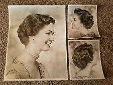 Vintage 1950's Original Hair Beauty Salon Poster and Side View Photos / Rare!!
