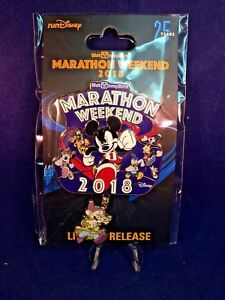 NWT Walt Disney World Marathon Weekend 2018 Event Logo Pin Limited Release Jumbo