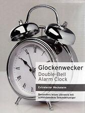 Nostalgie Glockenwecker Wecker Uhr Doppelglockenwecker besonders leises Uhrwerk