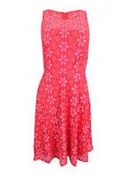 Nine West Women's Floral Lace A-Line Dress