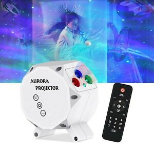 3 in 1 Universe Aurora Starry Sky Rotating Projector Dimmable BT Speaker
