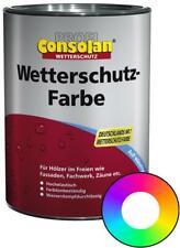 Profi Consolan Wetterschutz-Farbe RAL 3020 Verkehrsrot Wunschfarbton 2,5 L