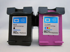 HP662XL BLK 662 CLR XL Ink Cartridge for HP Deskjet 4645 3565 3545 3515 2646 2PK
