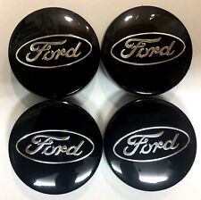 4x Black Ford Alloy Wheel Center Caps  6M21-1003-AA