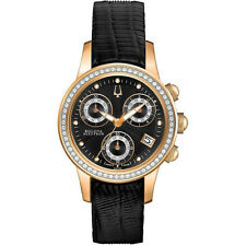 Bulova Accutron 65R150 - Ladies' Masella Chronograph Diamond Leather Watch