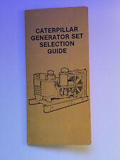 Caterpillar Generator Set Selection Guide Chart