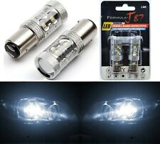 LED Light 50W 2357 White 5000K Two Bulbs Stop Brake Replace Upgrade Tail Lamp OE