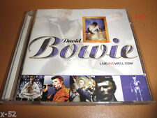 DAVID BOWIE Exclusive Fan Club CD Liveandwell.com LIVE 2 disc SET rare