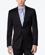 $520 CALVIN KLEIN men BLUE SLIM-FIT SPORTS COAT SUIT JACKET BLAZER SIZE 48 R