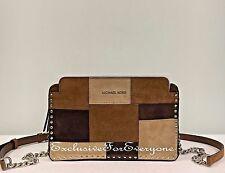 NWT Michael Kors Astor Large Messenger Dark Caramel Crossbody Bag $268