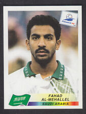 Panini - France 98 World Cup - # 206 Fahad Al-Mehallel - Saudi Arabia