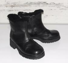UGG~GENUINE LEATHER *STACKED HEELS* SHEARLING FUR SHEEPSKIN~MOTORCYCLE BOOTS~8