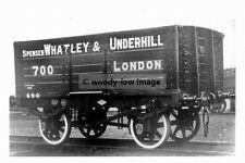 rp5162 - Railway Wagon no 700 Spenser Whatley & Underhill London - photo 6x4
