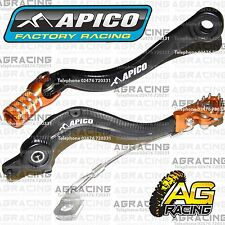 Apico Black Orange Rear Brake & Gear Pedal Lever For KTM SXF 250 2014 Motocross