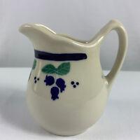 "Hartstone Pottery Blueberry Creamer 4 1/4"""