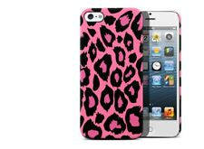Case for iphone 5 / iPhone 5S / iPhone Se Pink Leopard design