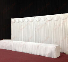 6Mx3M White Wedding Backdrop Curtain with Swag and Heavy Duty Stands for SALE