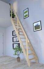 Raumspartreppe Fichte 2000 inkl. Holzhandlauf Holztreppe durchgehenden Wangen