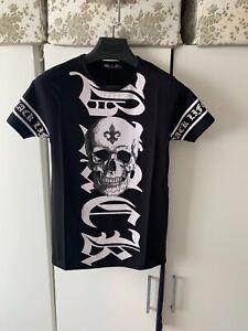 Braazi Slim Fit Skull Head Fearless Summer Crew Neck Short Sleeve T- Shirt Black