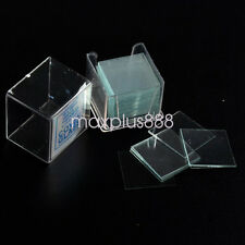 Microscope Slide Cover Slips 1 Boxes of 100 8mm x 8mm Square Cover Glasses