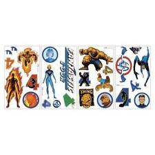 Marvel Comics Fantastic Four Wall Decals Peel and Stick Re-Usable