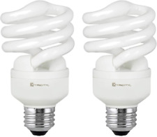 Compact Fluorescent Light Bulb T2 Spiral Cfl, 4100K Cool White, 13W (60 Watt Equ