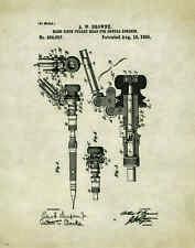 Dentist Patent Poster Art Print Vintage Dental Instruments Tools Chairs PAT176