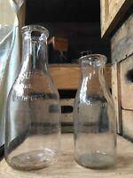 Vintage Quart & Pint Milk Bottles Bowman Dairy Co Chicago Illinois Bottle